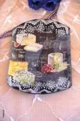 Nádoby - sklenená tácka Camembert - 8303485_