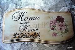 tabuľka Home sweet home