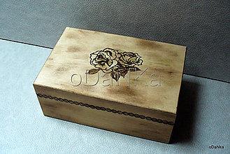 Krabičky - drevená šperkovnica Vypaľovaná ... - 8302630_