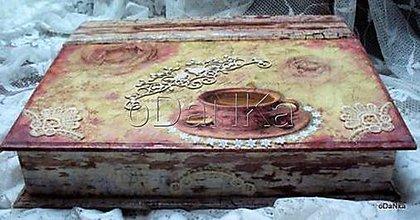 Nábytok - drevený sekretárik Spomienky pri káve - 8302658_