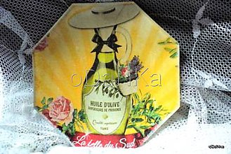 Nádoby - sklenený tanierik Olive - 8303494_
