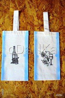 Iné tašky - ľanová taška na fľašu - 8303638_