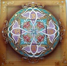 Obrazy - Pod krídlami neba / Mandala nebeskej ochrany - 8303160_