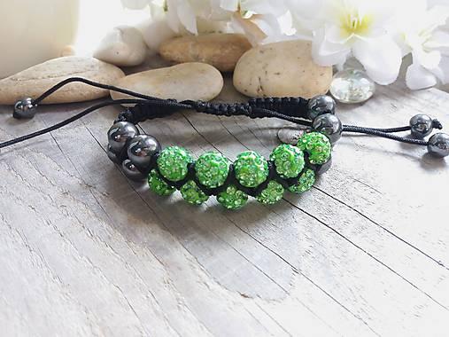 Shamballa dvojitý zelený   Johnny7 - SAShE.sk - Handmade Náramky e8ba3cff12b