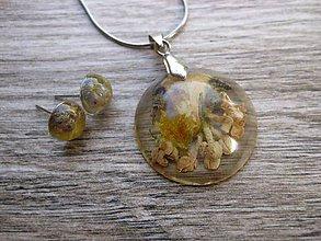 Sady šperkov - Živicová sada s kvietkami č.994 - 8303112_