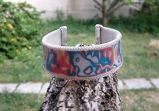 Náramky - Hrubý mozaikový náramok cuff - 8304008_