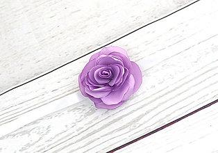 Náramky - Náramok fialová ruža - 8303148_