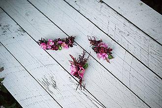 Ozdoby do vlasov - Kvetinový set \