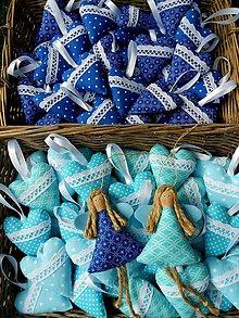 Darčeky pre svadobčanov - Svadobné srdiečka, Navy blue / Turquoise - 8302695_
