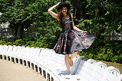 Šaty - Ľudovky black - šaty - 8303480_