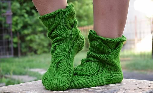 ae681662d Osmičkové ponožky - zelené (v.39-41) / Eva64 - SAShE.sk - Handmade Obuv
