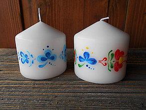 Svietidlá a sviečky - sviečka ľudový ornament - 8304978_