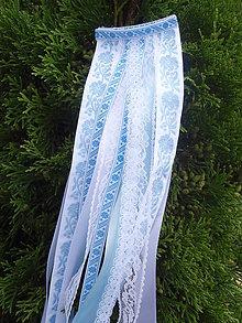 Ozdoby do vlasov - Folklórny hrebienok svetlomodrý 50cm - 8302474_