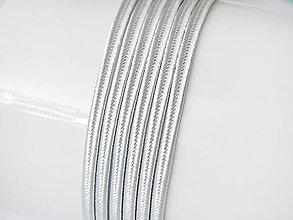 Galantéria - Sutaška (viskóza/bavlna) - Silver, 3mm, bal.1m - 8303695_