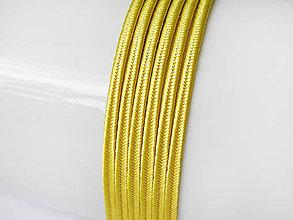 Galantéria - Sutaška (viskóza/bavlna) - Yellow Gold, 3mm, bal.1m - 8303744_