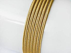 Galantéria - Sutaška (viskóza/bavlna) - Bronze, 3mm, bal.1m - 8303763_