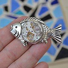 Odznaky/Brošne - Brož ryba, brošňa, kapr, steampunk - 8305853_