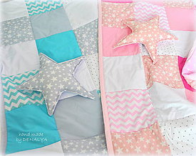 Úžitkový textil - Prehoz Star 120x205 v ružovom alebo modrom - 8306252_