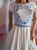 Šaty - FLORAL FOLK - bambusové šaty ľudové maľované s kruhovou sukňou a vačkami - 8306848_