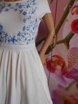 Šaty - FLORAL FOLK - bambusové šaty ľudové maľované s kruhovou sukňou a vačkami - 8306875_