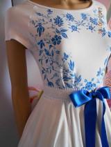 Šaty - FLORAL FOLK - bambusové šaty ľudové maľované s kruhovou sukňou a vačkami - 8306876_