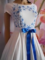Šaty - FLORAL FOLK - bambusové šaty ľudové maľované s kruhovou sukňou a vačkami - 8306877_