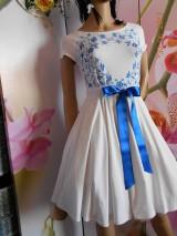 Šaty - FLORAL FOLK - bambusové šaty ľudové maľované s kruhovou sukňou a vačkami - 8306880_