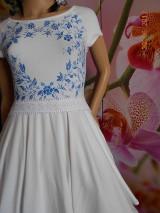 Šaty - FLORAL FOLK - bambusové šaty ľudové maľované s kruhovou sukňou a vačkami - 8306884_