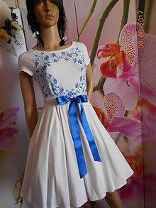 Šaty - FLORAL FOLK - bambusové šaty ľudové maľované s kruhovou sukňou a vačkami - 8306885_