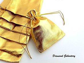 Obalový materiál - Dekoračná taštička - zlatá - 8306264_