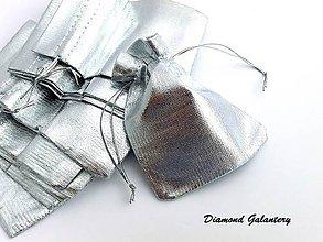 Obalový materiál - Dekoračná taštička - strieborná - 8306265_