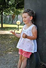 Detské oblečenie - Top LENA bodkový - 8305582_