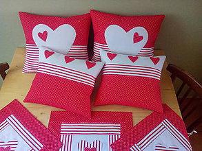 Úžitkový textil - srdiečková kolekcia - 8305195_