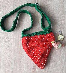 Detské tašky - Kabelka jahôdka - 8306014_