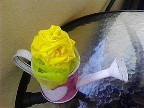 Dekorácie - Dekorácia ružička zápich - 8305121_