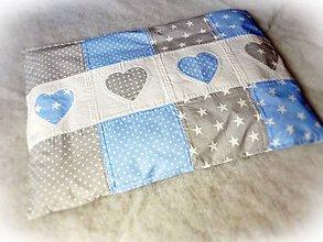 Textil - Obliečka na detský vankúš 60x40 modrá - 8306370_
