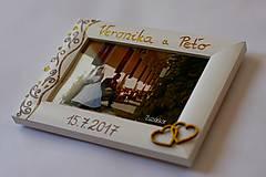 Rámiky - Biely svadobný fotorámik čipka - lišta 3 cm - 8305479_