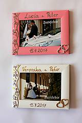 Rámiky - Biely svadobný fotorámik čipka - lišta 3 cm - 8305637_