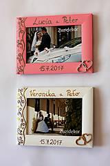 Rámiky - Ružový svadobný fotorámik čipka - lišta 3 cm - 8305641_