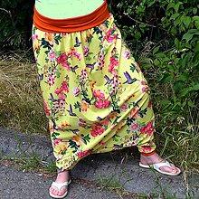 Nohavice - Turky Kolibříci v růžích - 8305687_
