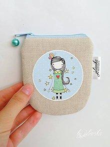 Peňaženky - Len ja a môj svet - modrá peňaženka - 8307305_