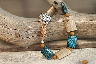 Náramky - Boho náramok z minerálov jaspis - 8305389_