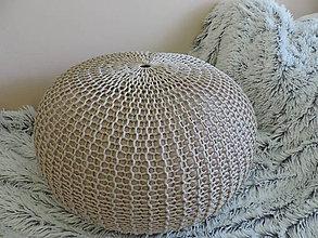Úžitkový textil - Puf KONOPI - 8305105_