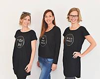Šaty - Dámske tabuľové šaty- ležérneho tričkového strihu - 8308346_