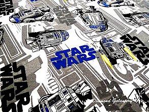 Textil - Úplet Star Wars - Modrý - cena za 10 cm - 8308743_