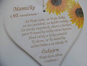 Tabuľky - Srdiečko na narodeniny - 8309142_