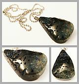 Náhrdelníky - Čierno-zelený dračí achát - 8309357_