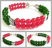 Náramky - Dvojradový náramok s jadeitom - 8309534_