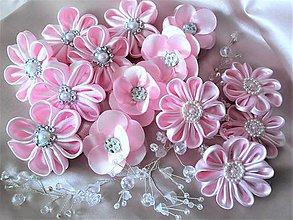 Iné doplnky - Saténové kvety - 8309231_