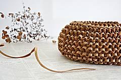 Košíky - Korkový pletený košík (Veľ. S) - 8309166_